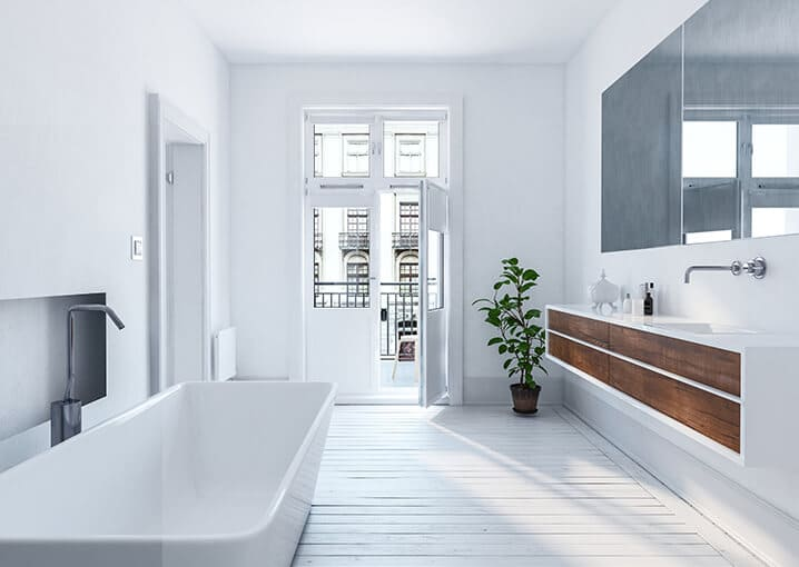 badezimmer-weiß-schlicht-badewanne-bad