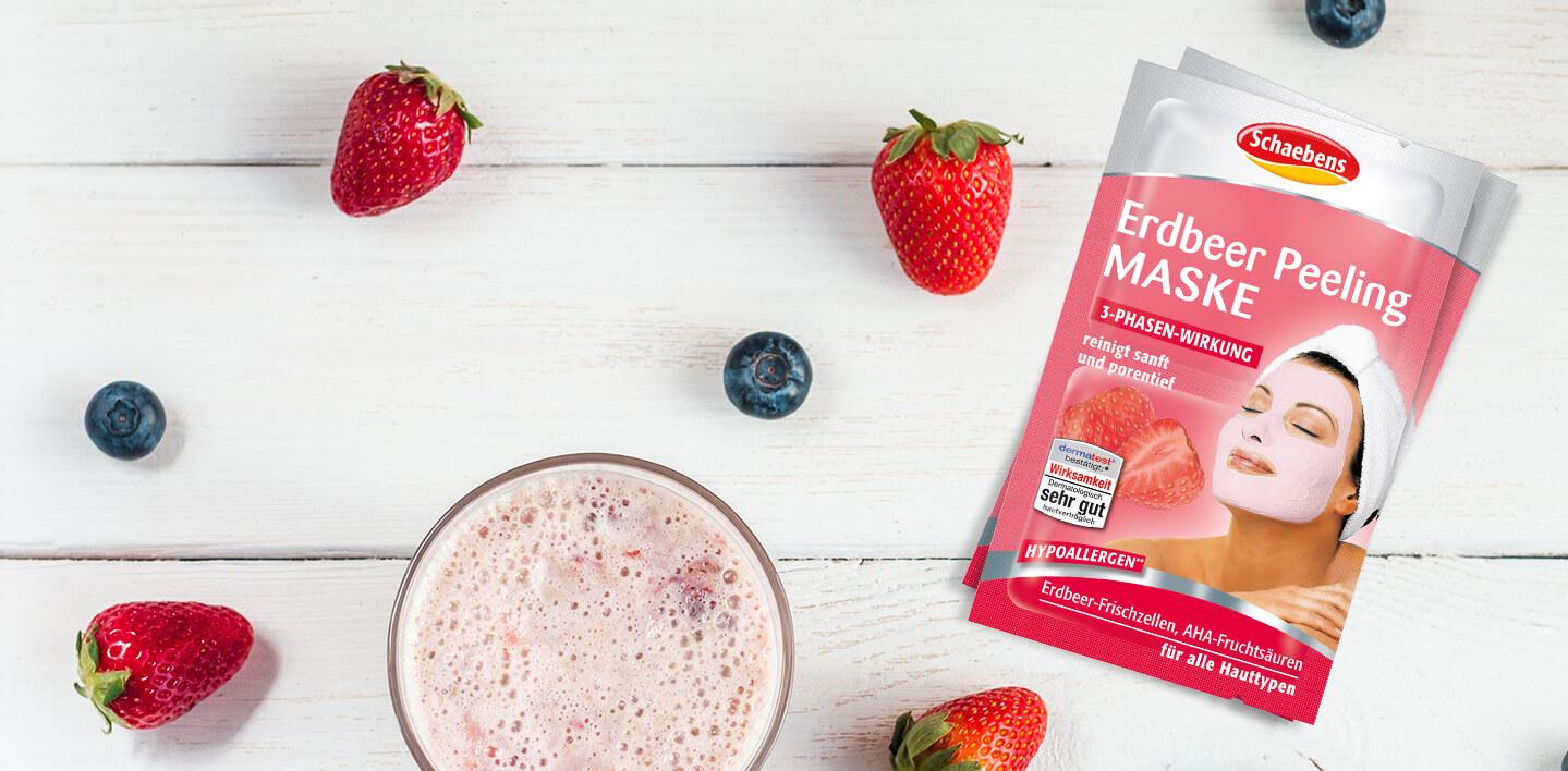 Erdbeer Peeling Maske