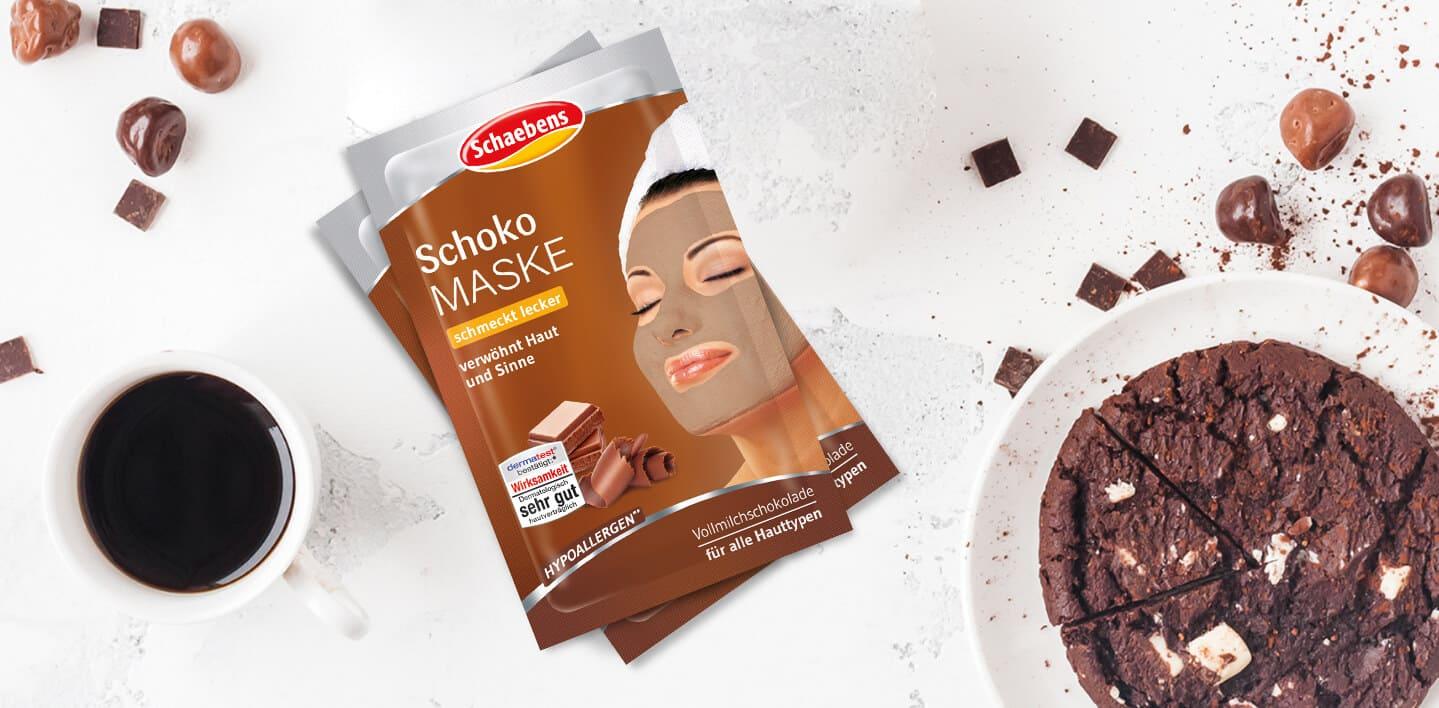 schoko-maske-gesichtspflege-gesichtsmaske-schokolade-vollmilchschokolade-lecker-hypoallergen-verwöhnend-wohltuend-kakao-kakaoduft-header