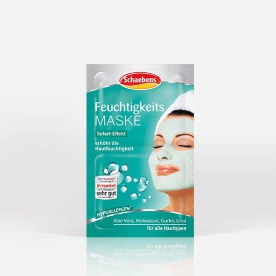 feuchtigkeits-maske-gesichtspflege-pflege-gesichtsmaske-schaebens-aloe-vera-heilwasser-gurke-urea-hypoallergen-hautfeuchtigkeit-feuchtigkeit-sofort-effekt-soforthile-hydration-gruen-tuerkis-verpackung-teaser