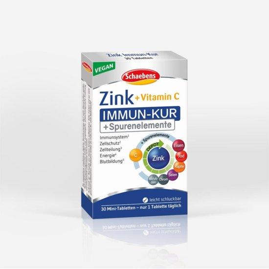 zink-immun-kur-nahrungsergaenzungsmittel-schaebens-zink-vitamin-c-spurenelemente-unterstuetzend-abwehrkraefte-komplex-vegan-depot-technologie-teaser-verpackung-bunt