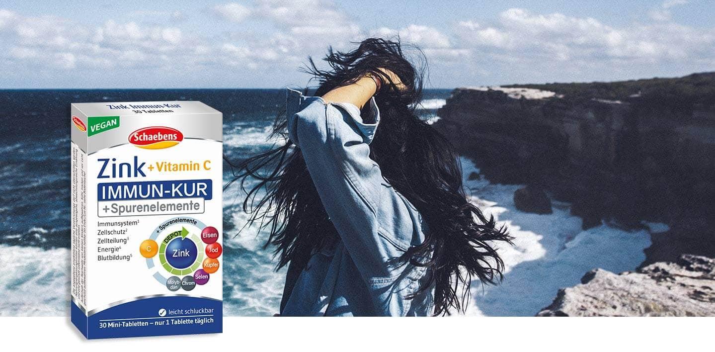 zink-immun-kur-nahrungsergaenzungsmittel-schaebens-zink-vitamin-c-spurenelemente-unterstuetzend-abwehrkraefte-komplex-vegan-depot-technologie-header-verpackung