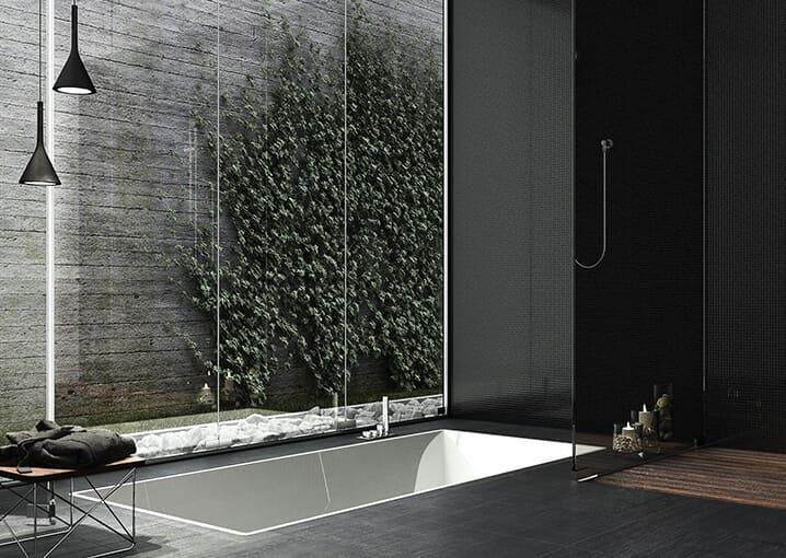 badezimmer-bad-badewanne-schwarz-weiß-schaebens-pflege-gesichtspflege