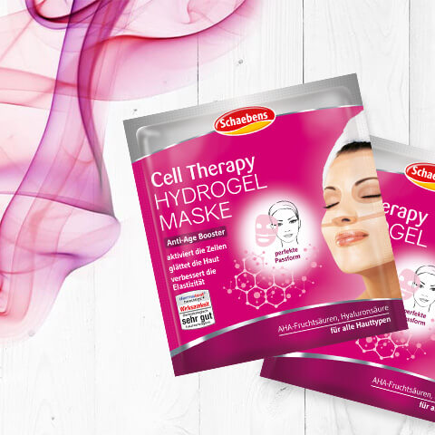 Cell Therapy Hydrogel Maske
