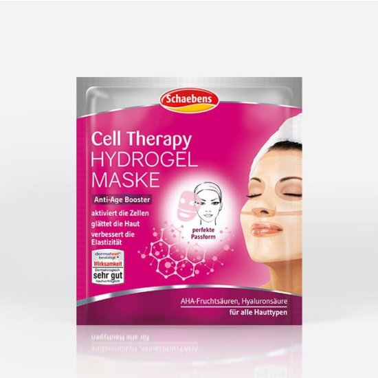 cell-therapy-hydrogel-mask-schaebens-facial-care-sheet-mask-anti-age-booster-aha-fruit-acids-hyaluronic-acid