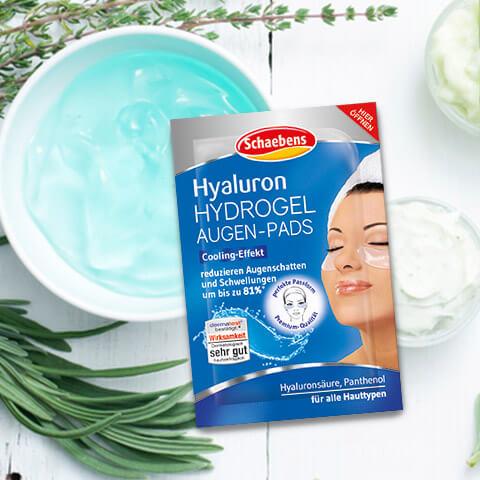 Hyaluron Hydrogel Augen-Pads